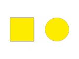 Наклейка желтая на прозрачные двери.